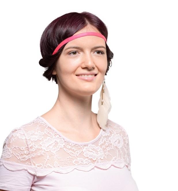 Ivyband in Pink KLIPP Onlineshop Frisör Friseur Haarband Sport