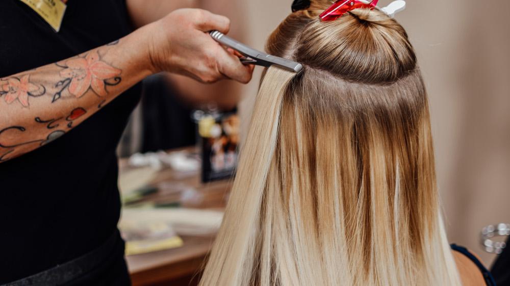 KLIPP Frisör Haarverlängerung Extensions Tapes Verlocke Anbringen Salon