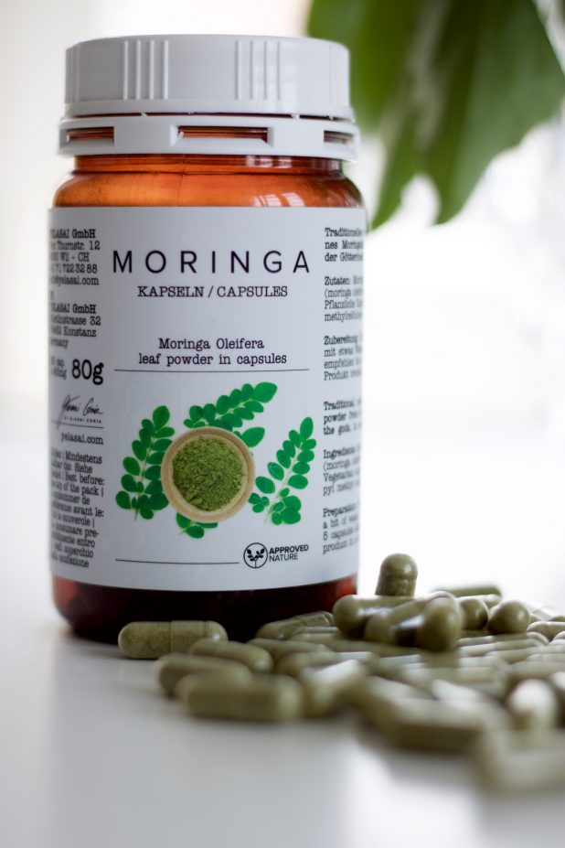Moringa Kapseln Nahrungsergänzung Ernährung yelasai klipp friseur