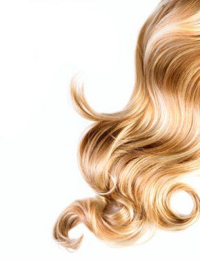 haare, locken, blondes Haar, Strähne