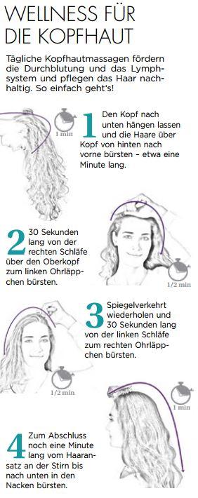 wellness für die Kopfhaut, bürsten, Haare bürsten, Haarbürste, Kopfhaut, Gesundheit